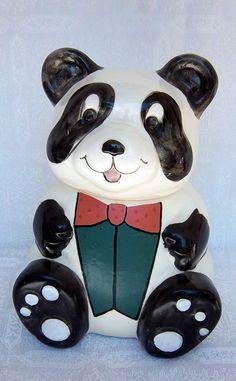 Panda Bear Cookie Jar by DayJahView on Etsy