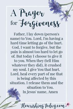 Inspirational Quotes 70 Forgiveness Quotes to Inspire Us to Let Go - BoomSumo Quotes Prayer For Forgiveness, Power Of Prayer, My Prayer, Forgiveness Scriptures, Forgiveness Quotes Christian, Healing Prayer, Prayers For Strength And Healing, Prayer For Enemies, Husband Prayer