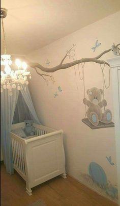 Pokoik Alicji Baby Wall Decor, Baby Boy Room Decor, Baby Room Design, Nursery Room Decor, Baby Bedroom, Baby Boy Rooms, Baby Boy Nurseries, Baby Boys, Kids Bedroom