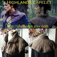 PDF Knitting Pattern for Highlands Capelet Instant by Shelleden