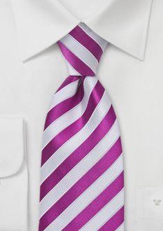 Krawatte strukturiert Streifenstruktur in Magenta