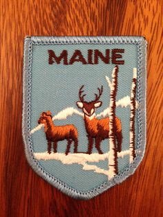 Maine Vintage Travel Patch by Voyager by HeydayRetroMart on Etsy, $7.00