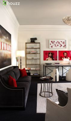 Black, red and white woman's cave inspiration