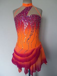 Custom Made Ice Skating Baton Twirling Dress | eBay