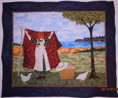 Anne of Green Gables Wall Hanging Quilted Wall by QuiltedPleasures, $160.00