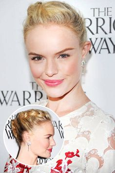Kate Bosworth's braided updo. See it and 23 other wedding-ready hairstyles.