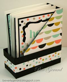 Sorbet Mini Gift Box by Beverly Gerard I adore the SAB Sweet Sorbet papers! I'm sharing a little gift box that's much easier than it looks. It's also a great way to share the Simply Scored tool.  My video tutorial is located in this post at Texas Rubber & Ink! http://beverlygerard.blogspot.com/2014/03/sorbet-mini-gift-cards-box.html