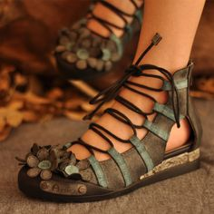 Aliexpress.com : Buy Artmu semi sweet handmade strap sandals empty thread flower cowhide spring and summer women's shoes from Reliable shoes gram suppliers on Jasmine Trading Company. | Alibaba Group