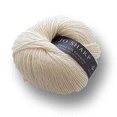 Alpaca Silk Georgette, Alpaca, Merino and Mulberry Silk knitting yarn, 50g, Ecru - I Wool Knit - 1