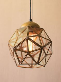 Kalalou Glass And Antique Gold Metal Faceted Pendants Modern Pendant Light, Pendant Lighting, Hygge, Modern Lighting Design, Light Bulb Wattage, Gold Glass, Dot And Bo, Dream Decor, Gold Style