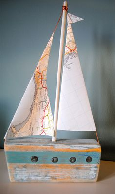 Handmade driftwood boat by MaisieMaisietoo on Etsy, £22.00