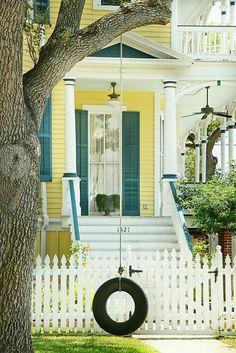 Best Exterior Paint Colors For House Yellow Turquoise Door 53 Ideas Café Exterior, Yellow House Exterior, Window Shutters Exterior, Best Exterior Paint, House Shutters, Exterior Paint Colors For House, Paint Colors For Home, Exterior Colors, Exterior Design