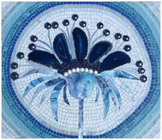 blue mosaic table top