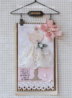 Paperie Sweetness: Crafty with canvas. Sewing Cards, Dress Card, Handmade Tags, Stampin Up, Paper Tags, Cricut Creations, Artist Trading Cards, Card Tags, Tag Art
