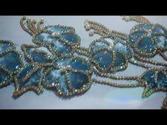 أول مرة على اليوتيوب الجديد 🔥🔥موضيل منفوخ للجلابة او القفطان وووااااو ❤ روووعة تحت طلبكم - YouTube Basic Embroidery Stitches, Tambour Embroidery, Hand Embroidery, Elegant Outfit, Crochet, Beads, Relief, Costumes, Art