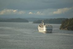 Birger Jarl ferry in the islands near Stockholm