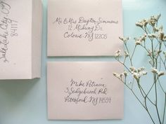 Anna Bond of Rifle Paper Co. is hands down my favorite calligrapher. Her style is unmistakeable, original and so lovely. Our Wedding, Dream Wedding, Wedding Envelopes, Rifle Paper Co, Her Style, Hand Lettering, Wedding Inspiration, Wedding Ideas, Stationery