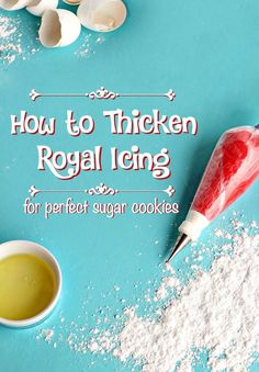 Thicken Royal Icing-Video For Decorating How to Thicken Royal Icing For Perfect Sugar Cookie Decorating via How to Thicken Royal Icing For Perfect Sugar Cookie Decorating via Icing Frosting, Cake Icing, Frosting Recipes, Royal Icing Piping, Frosting Tips, Cake Decorating Frosting, Cake Decorating Tips, Cookie Decorating, Sugar Cookie Icing