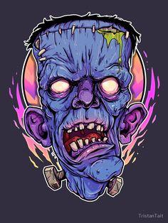 Old Man Frank by MrTristan on DeviantArt Zombie Drawings, Art Drawings, Candy Drawing, Frankenstein Art, Horror Artwork, Graffiti Characters, Arte Horror, Movie Poster Art, Halloween Art