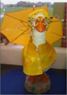 I use a dress up Goose for kids to show what the weather is like that day.