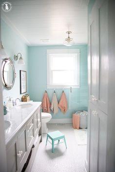 Kid Bathroom Decor, Girl Bathrooms, Baby Bathroom, Bathroom Renos, Bathroom Styling, Bathroom Interior Design, Small Bathroom, Colors For Bathrooms, Bathroom For Kids