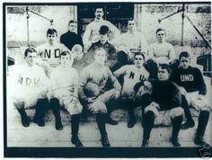 1900'S NOTRE DAME FOOTBALL 8X10 TEAM PHOTO VINTAGE ROCKNE INDIANA NCAA USA