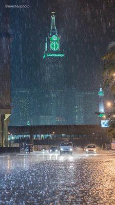 مكة المكرمة في وقت مطر Mecca Wallpaper Islamic Pictures Best Photo Background