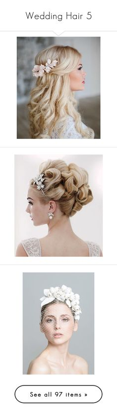 """""""Wedding Hair 5"""" by sheri-gifford-pauline ❤ liked on Polyvore featuring hair, hairstyles, accessories, hair accessories, fascinator, fascinator headband hat, headband fascinator, fascinator headband, head wrap hair accessories and hair band headband"""