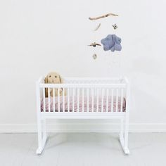 Scandinavian Baby Cradle A classic rocking cradle – perfect for baby's first bed – and a beautiful heirloom piece.
