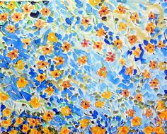 """Healing African Daisies,"" 30 x 24 Acrylic by Andrea de Kerpely-Zak"