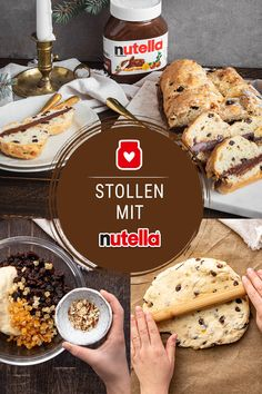 Stollen mit nutella – Best for You Pie Cake, Crab Cakes, Cookies And Cream, Cake Cookies, Sweet Recipes, Bakery, Good Food, Food And Drink, Sweets