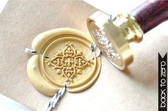 Decorative Filigree Gold Plated Wax Seal Stamp x 1 by BacktoZero, $20.00 - I'll take all of these stamps, please yes!