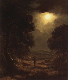 James Arthur O Connor. A Moonlit Landscape. Private Collection