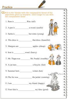 Grade+3+Grammar+Lesson+5+Adjectives++comparison English Grammar Test, English Grammar Exercises, Grammar Quiz, English Grammar Worksheets, Grammar Book, Grammar Lessons, English Lessons, English Vocabulary, Grammar Activities