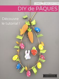 Home page > DIY accessory > DIY How to make felt characters very easily Hello!Today I'm going to show you how you can make beautiful little ones felt Diy Francais, Ways To Recycle, Egg Decorating, Easter Wreaths, How To Make Wreaths, Diy Wreath, Happy Easter, Something To Do, Stuff To Do