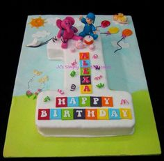 Pocoyo & Elly - It's party time !! - by JaclynJCs @ CakesDecor.com - cake decorating website