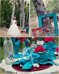 wedding turquoise and red - Google Search