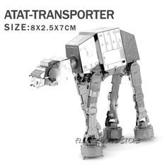 Creative Star Wars 3D model 3D metal puzzles DIY Jigsaws X-Wing Fighter/R2D2/ robot/ toy model Puzzle 7 kind of models wholesale