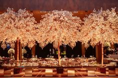 Ideas For Big Tree Receptions Free Wedding, Wedding Bride, Wedding Reception, Wedding Flowers, Plate Presentation, Cool Tree Houses, Wedding Desserts, Flower Centerpieces, Reception Decorations