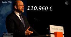 (Jürgen Fritz) 110.960 EUR pro Jahr on top. Steuer und abgabenfrei. Das erhielt der SPD-Vorsitzende und Kanzlerkandidat Martin Schulz als EU-Parlamentspräsident zusätzlich zu seinem Monstergehalt, …