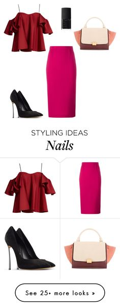 """#lookgirl1185"" by polly2003-2003 on Polyvore featuring Anna October, Roland Mouret, NARS Cosmetics and Casadei"