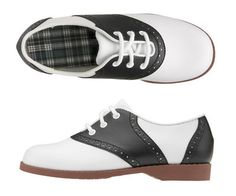 Children's Saddle Shoes or some call them saddle oxfords.