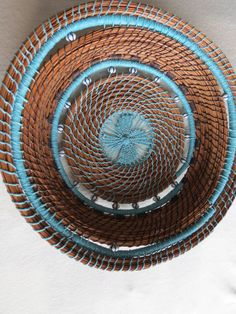 Beautiful hand made pine needle art basket by TwistedandCoiled, $145.00