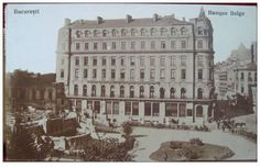 Bucuresti - Banque Belge actual Hotel Capitol linga Cercul Militar National - interbelica Bucharest Romania, Old City, Old Pictures, Homeland, Once Upon A Time, Time Travel, Nest, Dan, Buildings