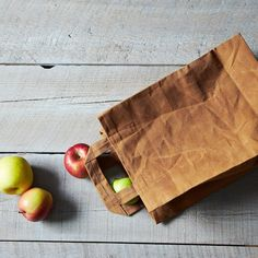 Waxed Canvas Market Bag with Handles