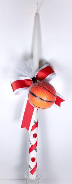 Basketball - Greek Easter Candle (Lambatha) by EllinikiStoli on Etsy https://www.etsy.com/listing/512923839/basketball-greek-easter-candle-lambatha