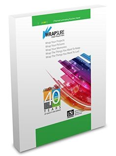 USI WrapSure Thermal Laminating Pouches / Sheets, Letter Size, 3 Mil Thick, 9 x 11.5 Inches, Clear Gloss, Box of 100
