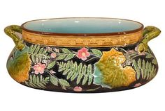19th-C. French Majolica  Jardinière