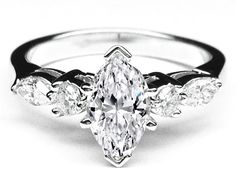 Marquise Diamond Engagement Ring Marquise