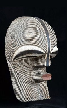 "Africa | ""Kifwébé"" mask from the Songye people of DR Congo 